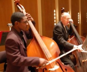 BAVPA student playing side-by-side with the BPO at Kleinhans Music Hall