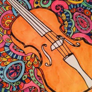 violin coloring book